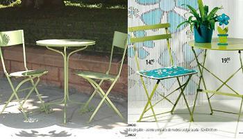 Mesa plegable para jard n en el verde pistacho de moda decoraci n - Mesa jardin plastico verde ...