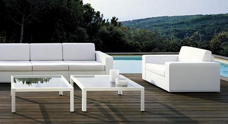 terraza de decoración minimalista