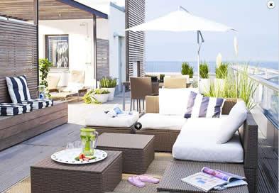 20 muebles de exteriores tendencia para el verano 2009 for Sofa exterior hipercor