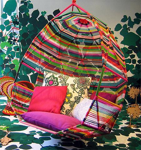 El sillón colgante Cocoon, novedad de Moroso