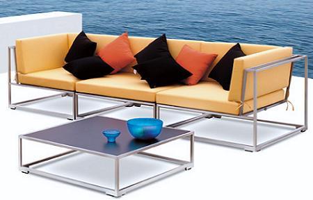 Muebles de jard n y terraza 2010 en aluminio decoraci n for Muebles de aluminio para jardin terraza