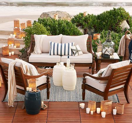 Decoraci n muebles de madera para tu jard n o terraza - Comedores exteriores para terrazas ...
