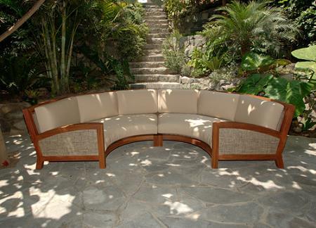 Muebles de exterior de madera tropical de beltempo for Sofa exterior hipercor