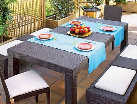 Decoraci n 21 fotos de conjuntos de mesa y sillas para for Comedor para terraza