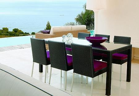 Decoraci n 21 fotos de conjuntos de mesa y sillas para for Mesa exterior diseno
