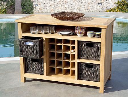 Decoraci n muebles auxiliares de exterior para tu jard n - Muebles cocina auxiliares ...