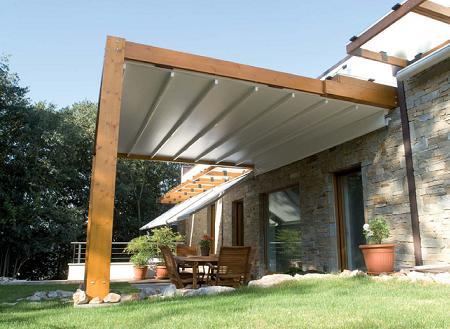 Decoraci n ideas para tu terraza a la ltima las p rgolas for Cobertizo de madera ideas de disenos