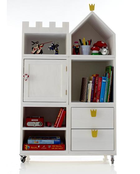 Muebles infantiles estanter a castillo decoraci n - Estanteria pared infantil ...