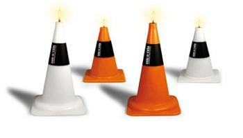 road cone candle