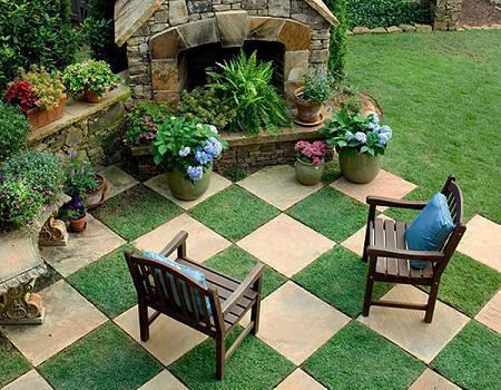 Decoraci n pavimentos para jard n for Baldosas para jardin