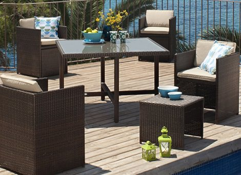 Pin mesa plegable on pinterest for Carrefour muebles jardin