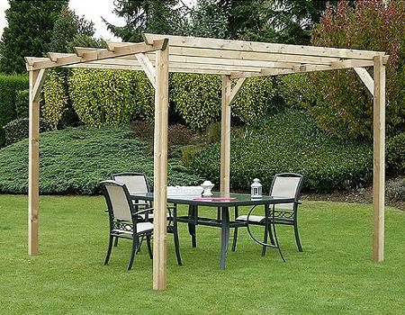 24 amazing pergolas de madera para jardin leroy merlin. Black Bedroom Furniture Sets. Home Design Ideas