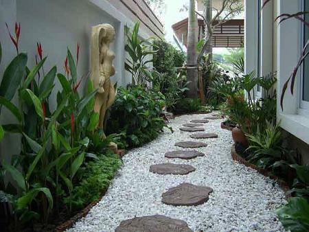 Pavimentos para jard n decoraci n for Piedras para jardin