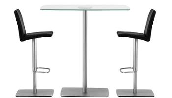 Más ideas para crear un office en una cocina pequeña: mesa alta y ...