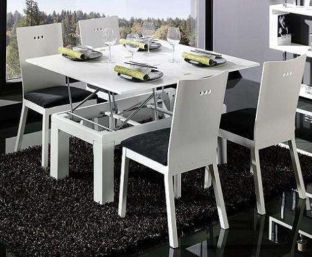 Decoraci n mesa de centro que se convierte en mesa de comedor - Mesas de centro que se elevan ...