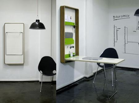 Boxoffice mesa de pared abatible ideal para ahorrar - Mesa de comedor plegable a la pared ...