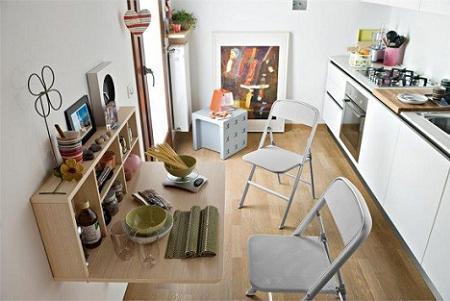 Mesa abatible de cocina