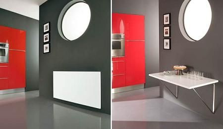 5 mesas abatibles de pared decoraci n - Mesa plegable pared cocina ...