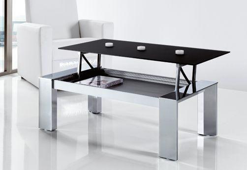 Decoraci n 5 mesas de centro elevables for Mesa de salon abatible