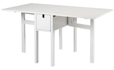 Decoraci n mesa plegable para la cocina - Mesa de cocina blanca ...