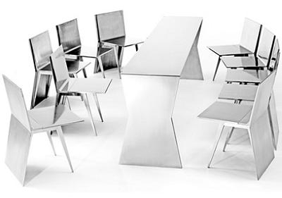 Mesa de comedor de dise o para ahorrar espacio decoraci n for Sillas plegables diseno comedor