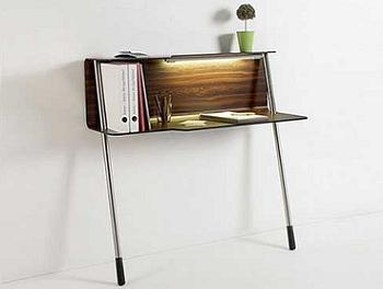Decoraci n escritorio de peque as dimensiones para ahorrar - Mesas de estudio para espacios pequenos ...
