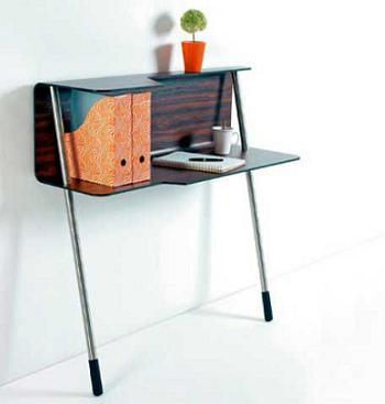 Decoraci n escritorio de peque as dimensiones para ahorrar for Mesas de estudio para espacios pequenos