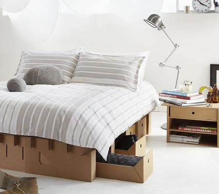 Dormitorio de cartón
