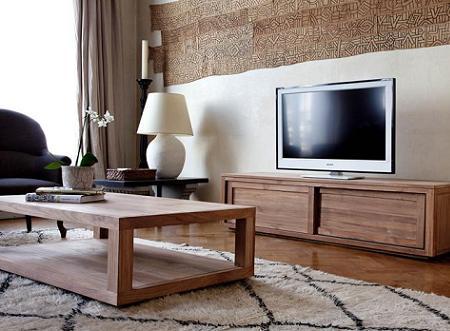 Decoraci n muebles de madera maciza for Muebles de madera maciza