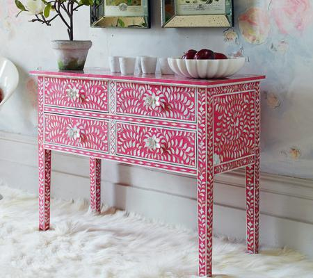 Mueble Consola Rosa Decoraci 243 N