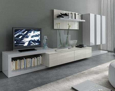 25 muebles tv de dise o minimalista que marcan tendencia for Mueble tv minimalista
