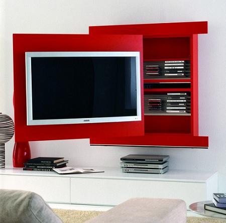 Mueble tv con almacenamiento extra un dise o muy for Muebles practicos para casas pequenas