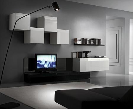 Decoraci n 25 muebles tv de dise o minimalista que - Muebles para tv minimalistas ...