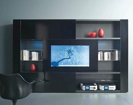 25 muebles tv de dise o minimalista que marcan tendencia for Programa para disenar muebles online