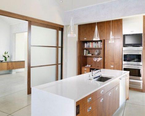 Puertas correderas cocina salon ba o pictures to pin on - Puertas correderas para cocinas ...