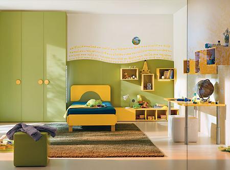 Dormitorio infantil para ni o decoraci n - Habitacion infantil verde ...