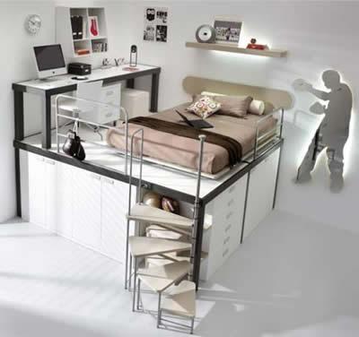 10 soluciones de dise o para dormitorios infantiles - Soluciones dormitorios pequenos ...