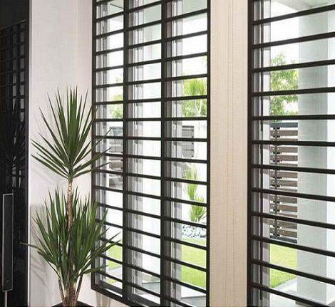 Rejas para ventanas m s seguras tipos y modelos decoraci n Puertas corredizas seguras