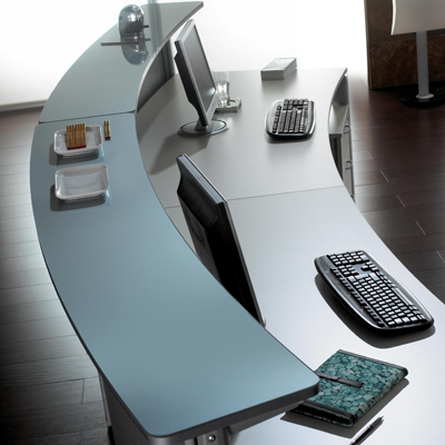 Decoraci n oficina la recepci n decoraci n for Muebles recepcion oficina