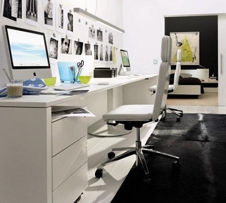 30 escritorios para la decoraci n de oficinas decoraci n for Decoracion de escritorios