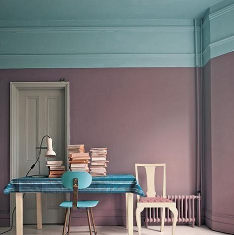 Decoraci n pintar la habitaci n en 2 colores - Como pintar una habitacion ...