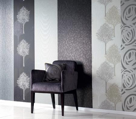 Papeles pintados de rayas decoraci n - Papeles pintados de pared ...