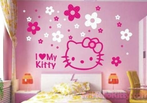 Vinilos decorativos infantiles hello kitty for Cuarto para nina hello kitty