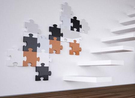 Radiador muy sofisticado con forma de puzle!