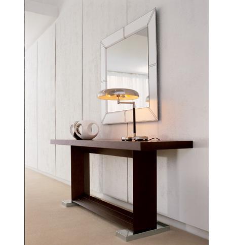Decoraci n consola de dise o espejo un hall muy sofisticado - Espejos para hall de entrada ...