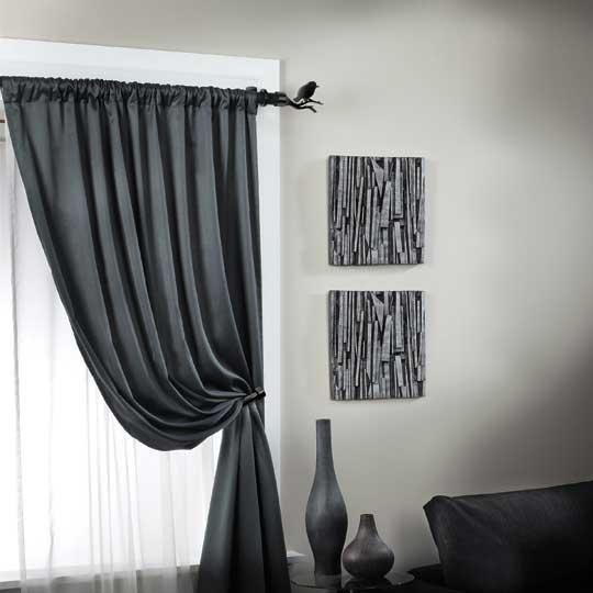 Cortinas De Baño H&M: con pequeños detalles: un pajarito para la barra de las cortinas