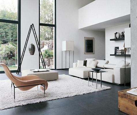 Salón blanco minimal