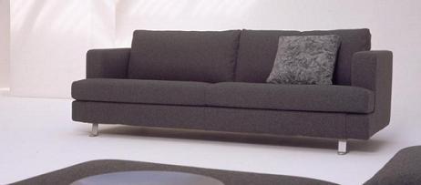 Sof en gris para sal n de vanguardia decoraci n - Sofa cama carrefour 99 euros ...