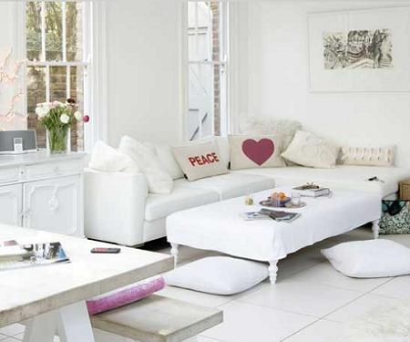 Sal n blanco decoraci n - Decoracion salones en blanco ...