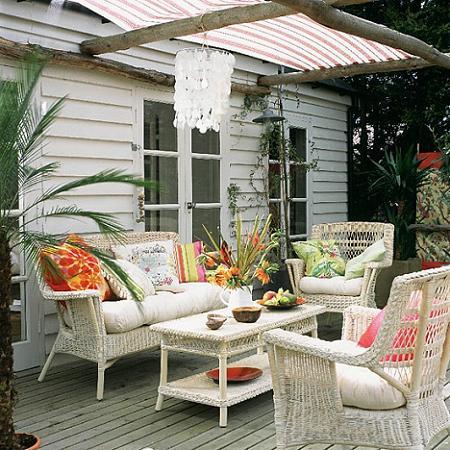 Decoraci n decorar la terraza a la sombra - Pergolas hipercor ...